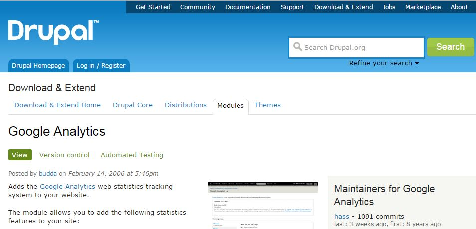 Drupal Google Analytics
