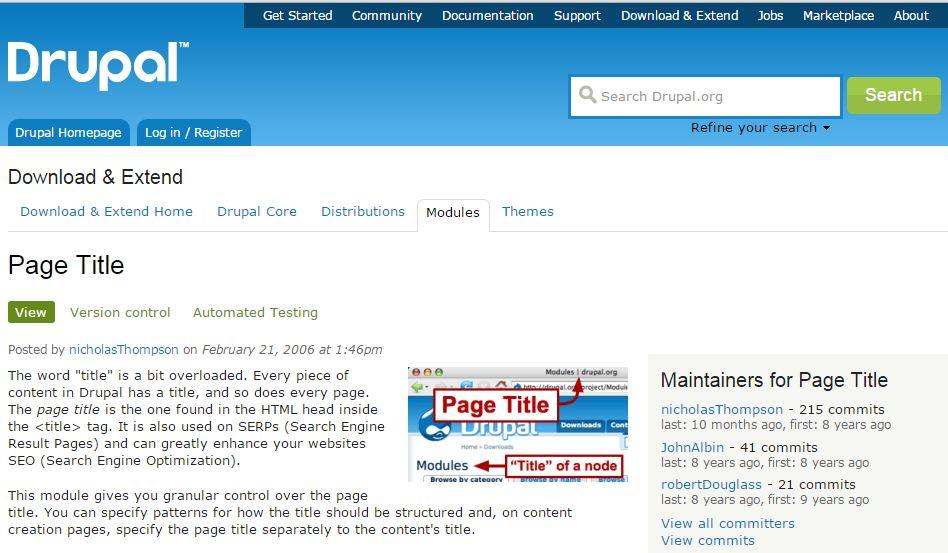 Drupal Page Title