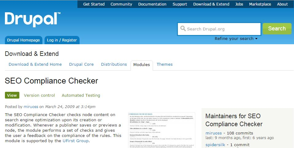 Drupal SEO Compliance Checker