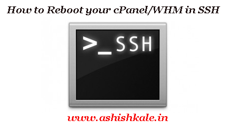 Reboot your cpanel
